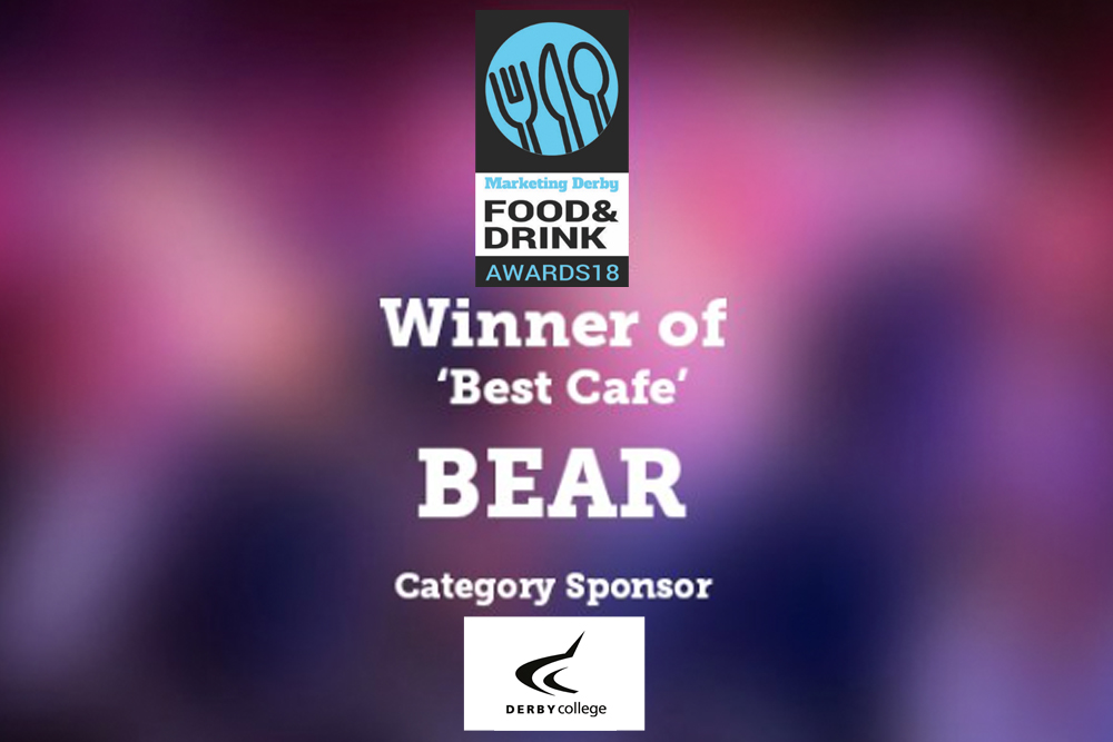BEAR wins 'Best Cafe' at Derby Food & Drink Awards 2018