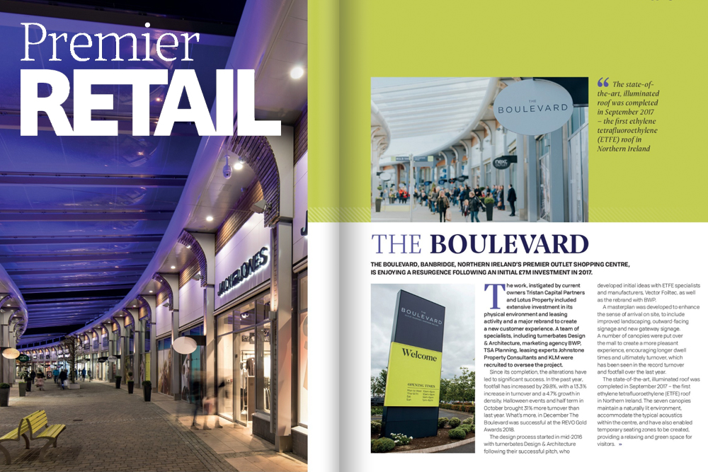 The Boulevard success featured in Premier Retail Magazine
